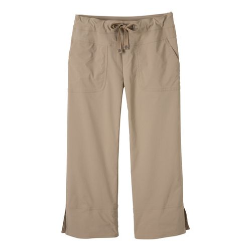 Womens Prana Bliss Capris Pants - Khaki S