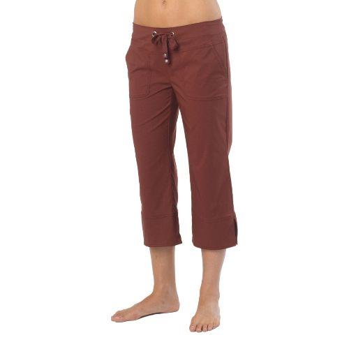 Womens Prana Bliss Capris Pants - Raisin XL