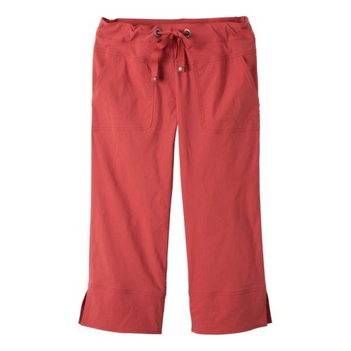 Womens Prana Bliss Capri Pants - Tomato XL