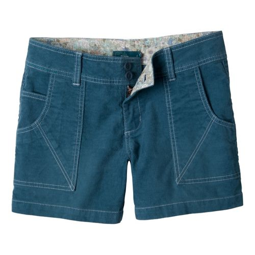 Womens Prana Suki Tailored Shorts - Blue Jean 4