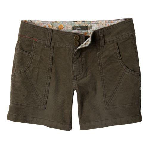 Womens Prana Suki Tailored Shorts - Cargo Green 4