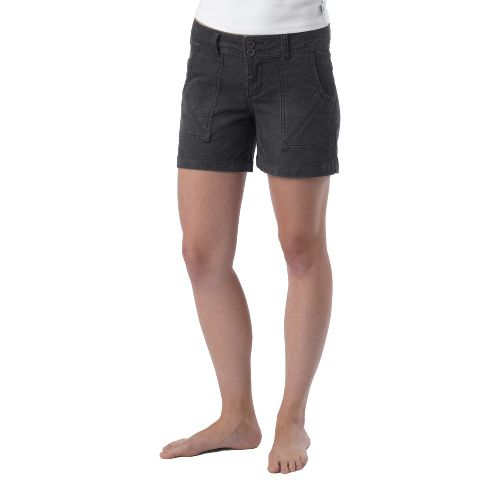 Womens Prana Suki Tailored Shorts - Coal 2