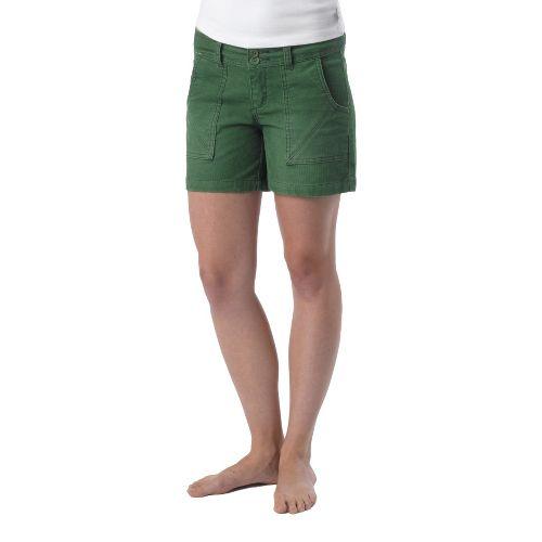 Womens Prana Suki Tailored Shorts - Deep Jade 4