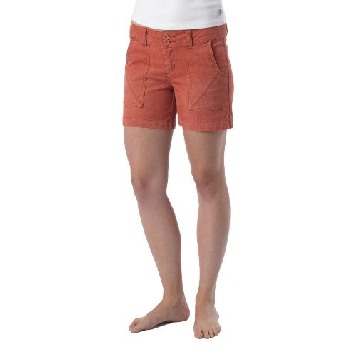 Womens Prana Suki Tailored Shorts - Indian Red OS