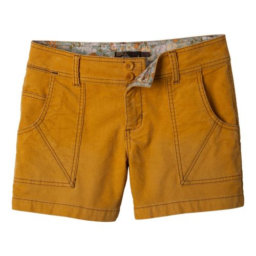Womens Prana Suki Tailored Shorts - Mustard 6