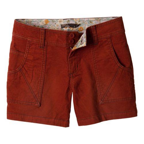 Womens Prana Suki Tailored Shorts - Rust 4