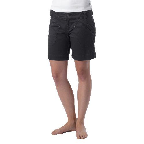 Womens Prana Randie Unlined Shorts - Coal 6
