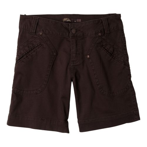 Womens Prana Randie Unlined Shorts - Espresso 14