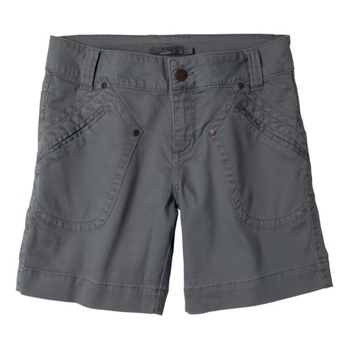 Womens Prana Randie Unlined Shorts - Gravel 4