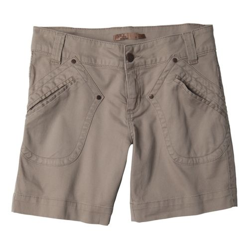 Womens Prana Randie Unlined Shorts - Khaki 14