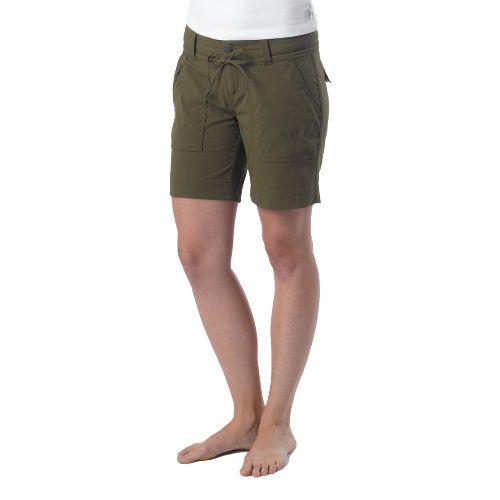 Womens Prana Nora Unlined Shorts - Cargo Green 10