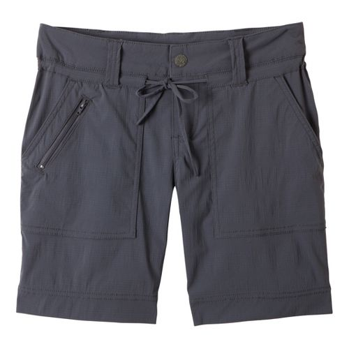 Womens Prana Nora Unlined Shorts - Coal 10