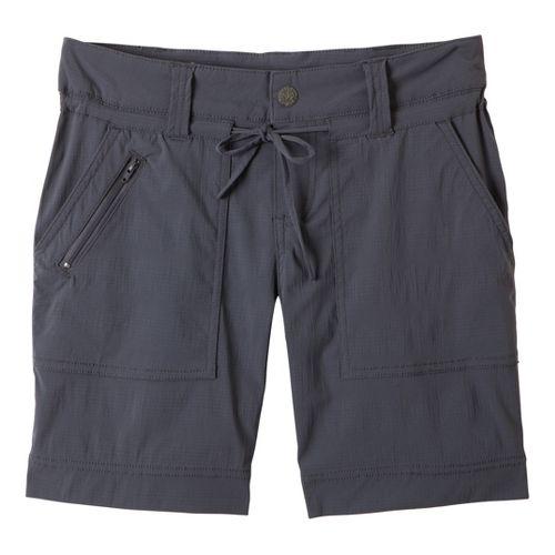 Womens Prana Nora Unlined Shorts - Coal 12