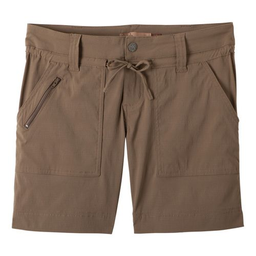 Womens Prana Nora Unlined Shorts - Mud 4