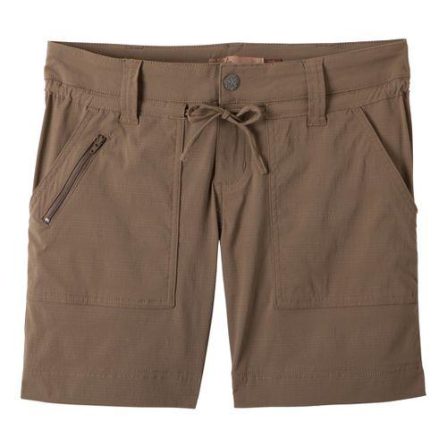Womens Prana Nora Unlined Shorts - Mud 8