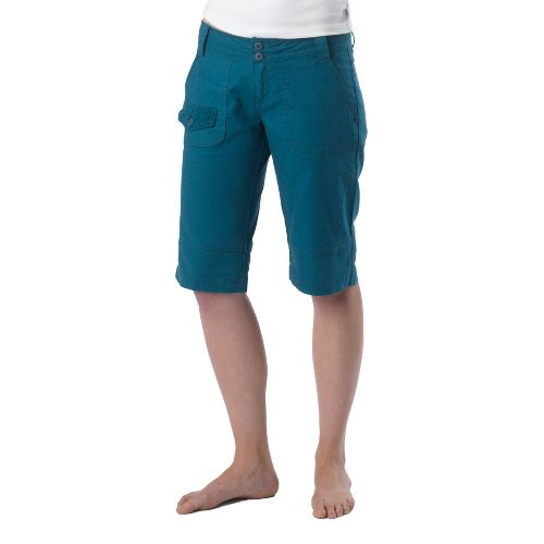 Womens Prana Kelly Knicker Unlined Shorts - Ink Blue 14