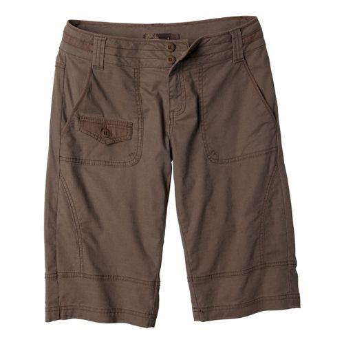 Womens Prana Kelly Knicker Unlined Shorts - Mud 10