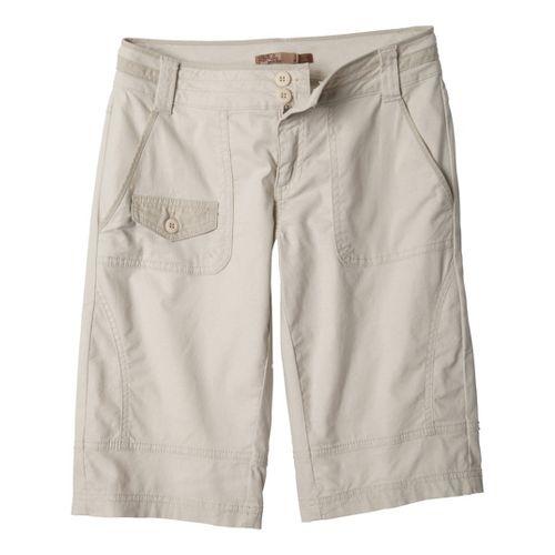 Womens Prana Kelly Knicker Unlined Shorts - Stone 4