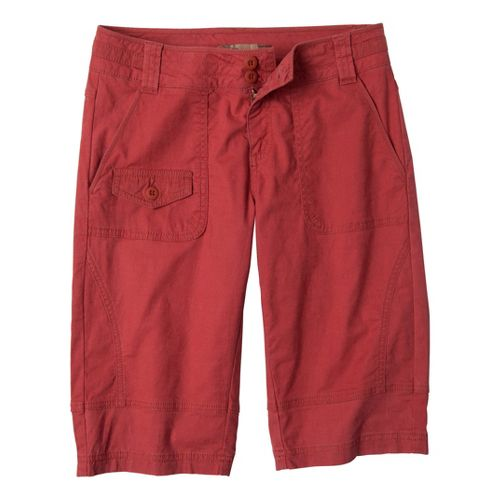 Womens Prana Kelly Knicker Unlined Shorts - Tomato 8