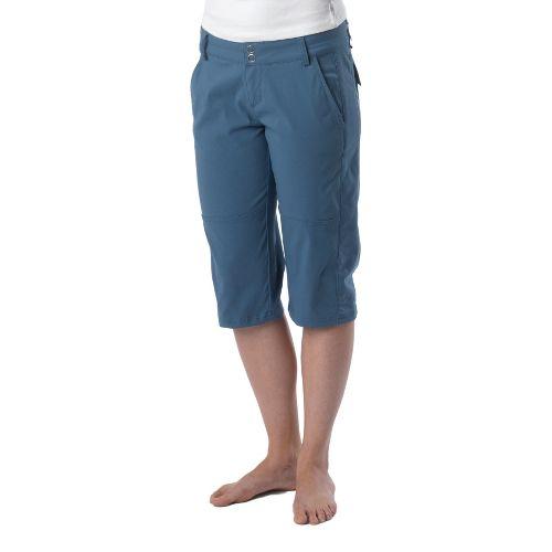 Womens Prana Iris Knicker Unlined Shorts - Blue Ash 2