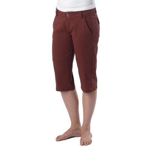 Womens Prana Iris Knicker Unlined Shorts - Raisin 6