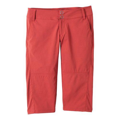 Womens Prana Iris Knicker Unlined Shorts - Tomato 6