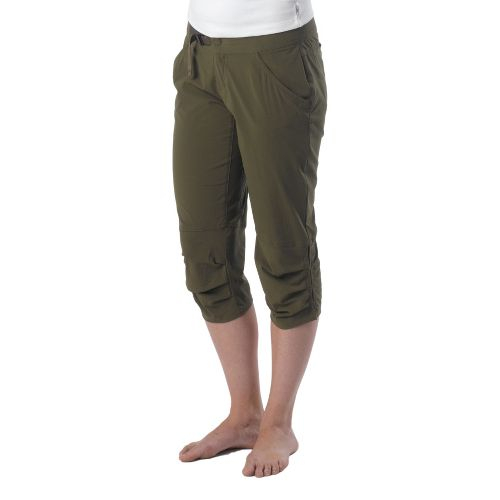 Womens Prana Jasmine Knicker Capri Pants - Cargo Green 12