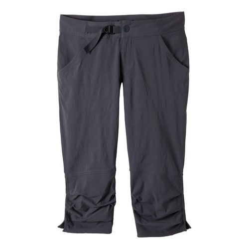 Womens Prana Jasmine Knicker Capri Pants - Coal 2