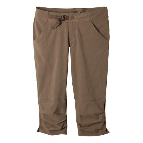 Womens Prana Jasmine Knicker Capri Pants - Mud 12