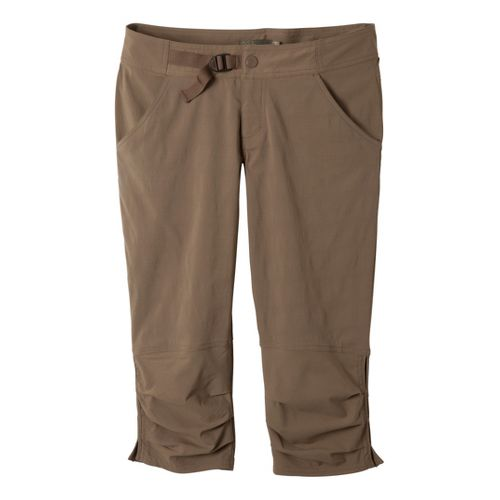 Womens Prana Jasmine Knicker Capri Pants - Mud 8