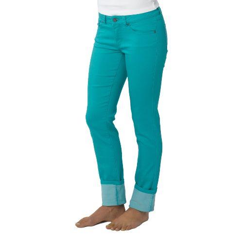 Womens Prana Kara Jean Capri Pants - Lagoon 10