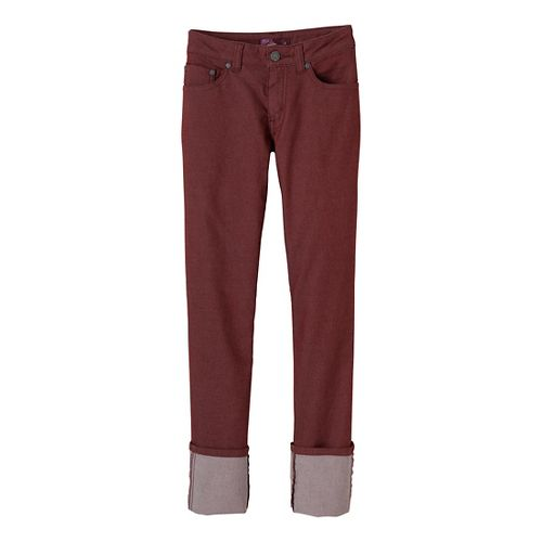 Womens Prana Kara Jean Capri Pants - Raisin 6