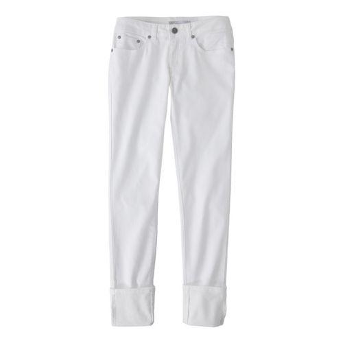 Womens Prana Kara Jean Capri Pants - White 2
