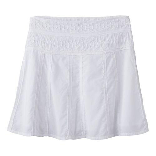 Womens Prana Erin Fitness Skirts - White 2