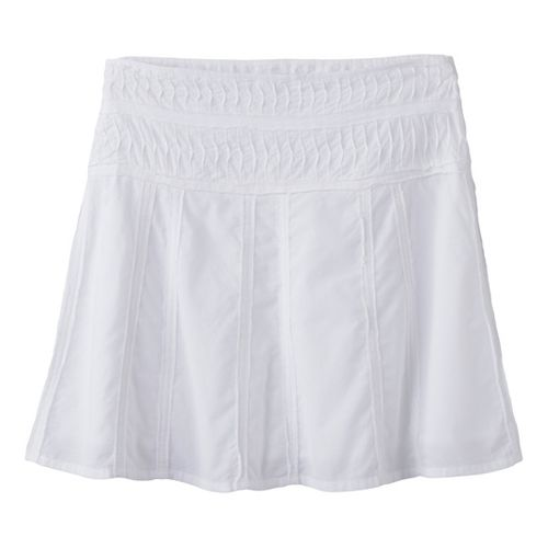 Womens Prana Erin Fitness Skirts - White 8