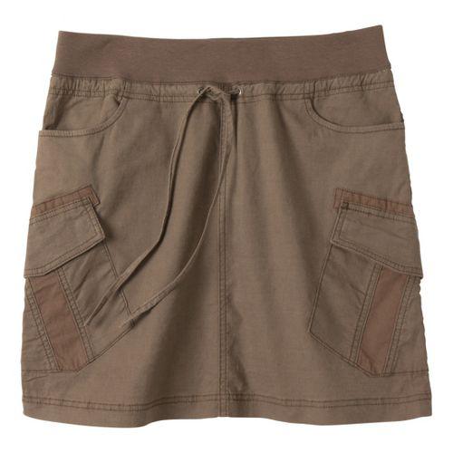 Womens Prana Bailey Fitness Skirts - Mud XL