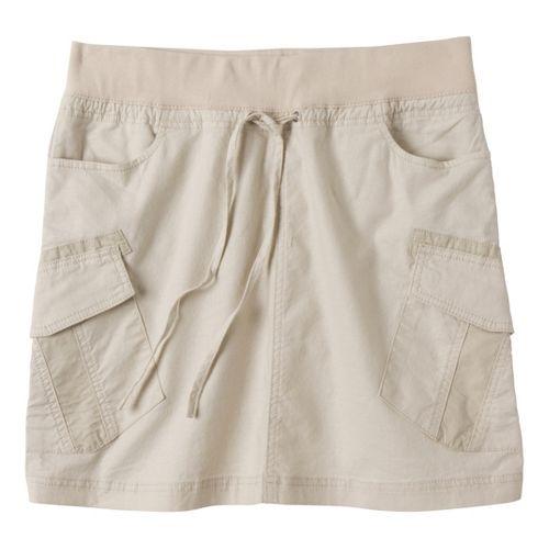 Womens Prana Bailey Fitness Skirts - Stone M