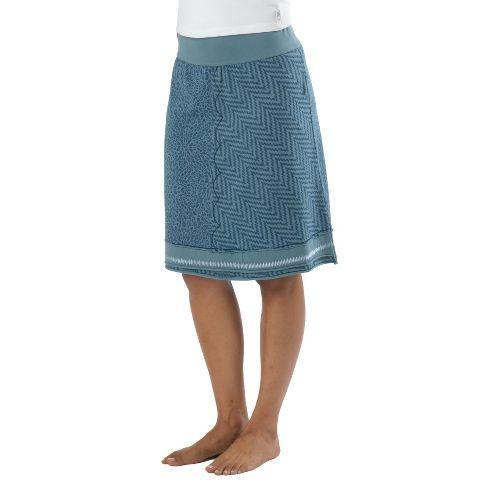 Womens Prana Lisette Fitness Skirts - Blue Ash L