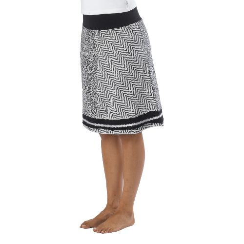 Womens Prana Lisette Fitness Skirts - Black/White XS