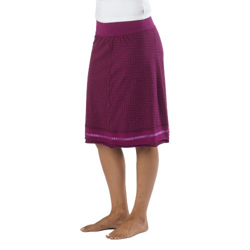 Womens Prana Lisette Fitness Skirts - Boysenberry XL