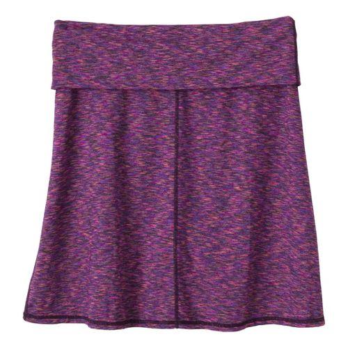 Womens Prana Leanne Fitness Skirts - Dark Eggplant XL