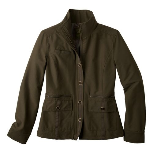 Womens Prana Lydia Warm-Up Unhooded Jackets - Cargo Green M