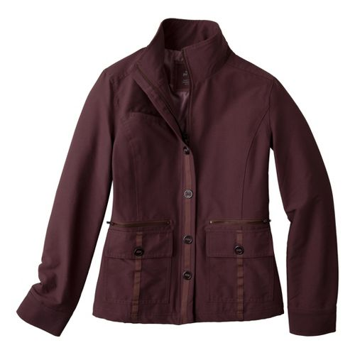 Womens Prana Lydia Warm-Up Unhooded Jackets - Thistle S
