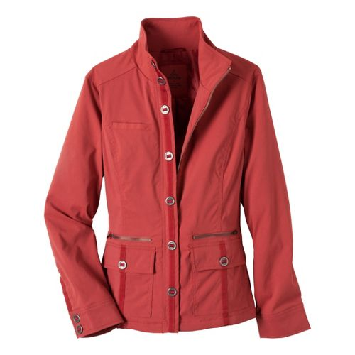 Womens Prana Lydia Warm-Up Unhooded Jackets - Tomato XS
