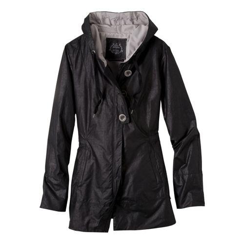 Womens Prana Abby Warm-Up Unhooded Jackets - Black XL