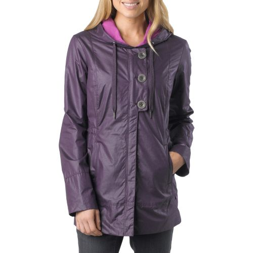 Womens Prana Abby Warm-Up Unhooded Jackets - Dark Eggplant M