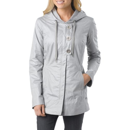 Womens Prana Abby Warm-Up Unhooded Jackets - Fog L