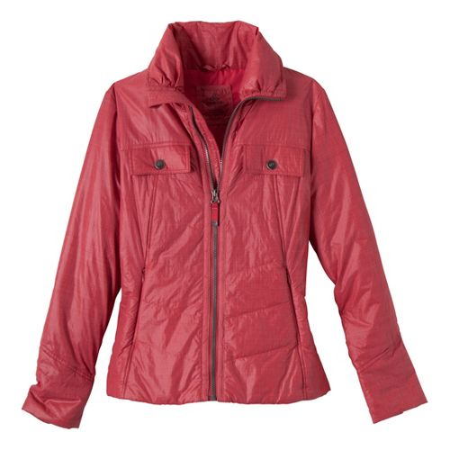Womens Prana Chantal Warm-Up Unhooded Jackets - Cardinal M