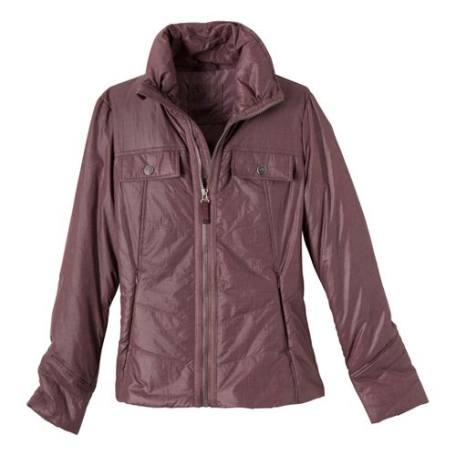 Womens Prana Chantal Warm-Up Unhooded Jackets - Thistle M