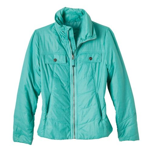 Womens Prana Chantal Warm-Up Unhooded Jackets - Turq L
